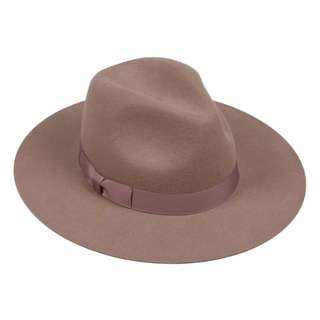 Lack of colour brown fedora