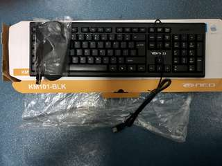 USB Wired Keyboard & Mouse Combo