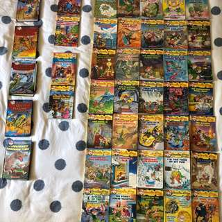 Geronimo Stilton 44 books, Magic Treehouse 11 books, sea quest 7 books