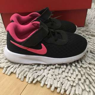 Auth NIKE TANJUN black shoes 8c