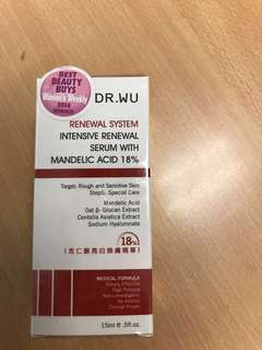 Intensive renewal serum with mandelic acid 18%