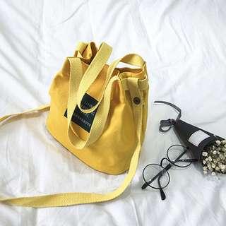 Handbag / slingbag canvas mustard