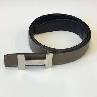 Hermes Bi Color Leather Belt