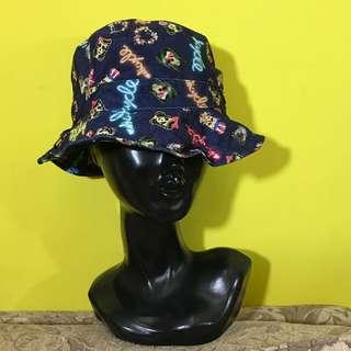 韓國制 深藍色 懷舊 復古 搖滾 Rockabilly 骷髏頭 立體 可摺疊 漁夫帽 / 帽子