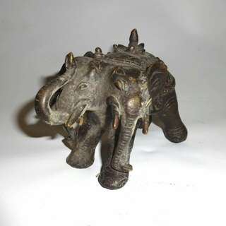 Patung tembaga gajah 3 kepala thailand