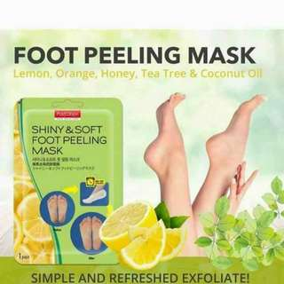 PUREDERM Shiny and Soft Foot Peeling Mask