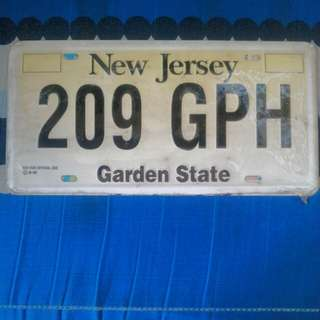 US Decorative plate number