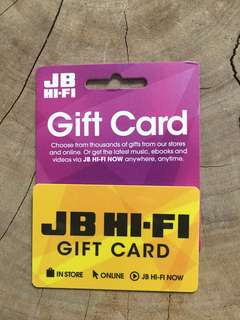 JB Hifi $200 giftcard for $190 - no expiry!