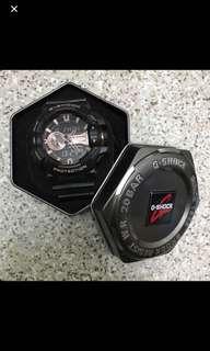 Gshock 玫瑰金錶面黑錶帶