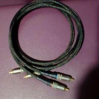 自作铝質訊號線1對4呎長