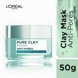 LOREAL Pure clay mask - pore refining
