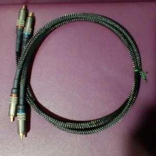 自作鋁質訊號線1對2.5呎長