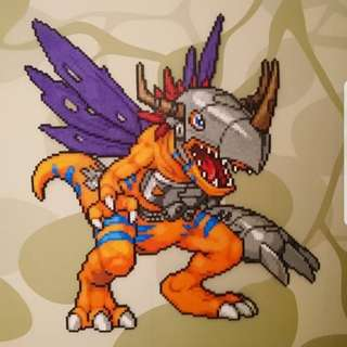 Hama beads design Anime  digimon huge metal greymon