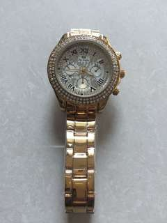 swarovzki  studded watch