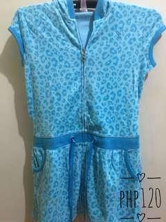 Animal print swimming robe