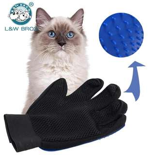 Pet Hair Glove Comb Silicone Pet Grooming Massage Bathing Brush Comb Gentle Easy Clean Hair Brush For Cat