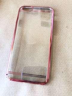 iPhone 6 transparent rose gold case 透明硬殼手機殼玫瑰金