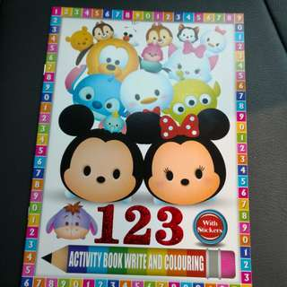 Tsum Tsum sticker and coloring book