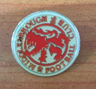 Collectibles..Vintage 1986 MIDDLESBROUGH FOOTBALL CLUB PIN