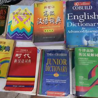 Dictionary and other book $5+