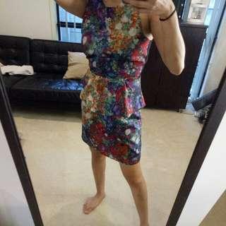 Sass floral dress