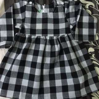 Grid Dress for baby girl