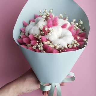 Bunny Tail & Cotton Bouquet