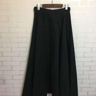 正韓組牛仔黑色丹寧長裙 腰圍可調整尺寸(全新吊牌未拆)