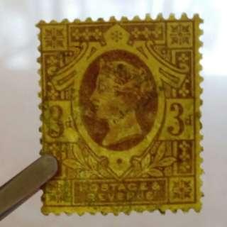 lapyip1230] 大英帝國 1887年 維多利亞 金票 三便士