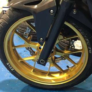 Motorbike Rim Spray painting - Rim Repair & spray