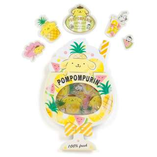 Japan Sanrio Pompompurin Plump Seals (fruits)