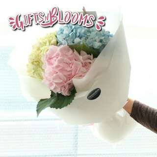 Fresh Flower Bouquet Anniversary Birthday Flower Gifts Graduation Roses Sunfowers Baby Breath -  1C40A