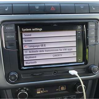 "VW Volkswagen Golf Jetta Sirocco Passat Andriod 6.5"" Composite Headunit with Built in Bluetooth and MirrorLink"