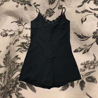 Black one summer playsuit factorie