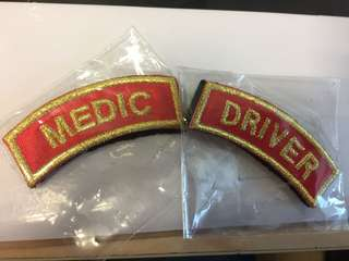 Velcro Medic&Driver Tag