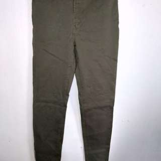 Army Green High waist pants