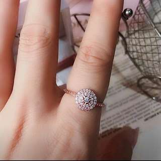 Authentic 925 Italy silver pandora rosegold