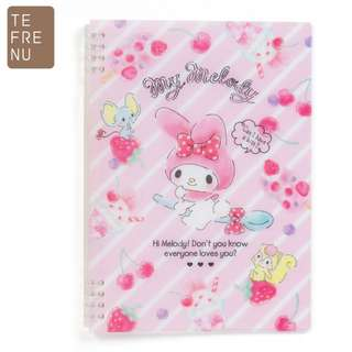 Japan Sanrio My Melody B5 Ring Note 【Tefrenu】 (Fruits)