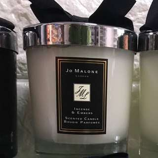 JO MALONE INCENSE & EMBERS SCENTED CANDLE 香薰 蠟燭  另有 CHANEL CARTIER HERMES LV