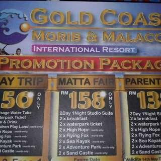 Gold cost morib/melaka