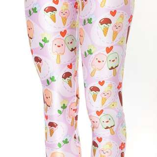 BLACK MILK YOU SCREAM ICE CREAM LEGGINGS