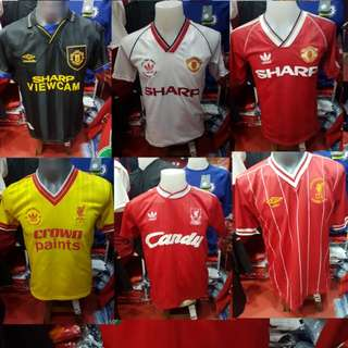INSTOCK retro Liverpool & Manchester United jersey (limited sizes)