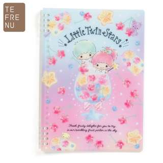 Japan Sanrio Little Twin Stars B5 Ring Note 【Tefrenu】 (Fruits)