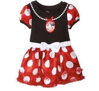 BN Disney Minnie Mouse Polkadot Tutu Costume Dress 12mths