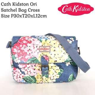 Tas Impor Wanita Cath Kidston Original Satchel Bag Coss - Blue