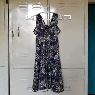 Black Cold shoulder floral dress