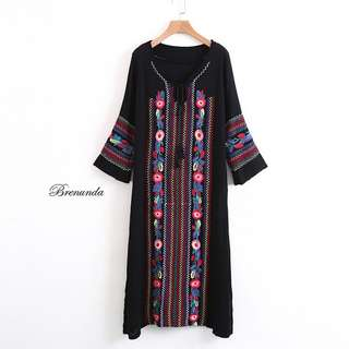 Brenunda Bohemian Dress. Free Size