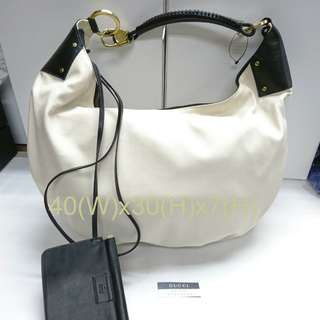 Gucci Vintage Tom Ford Canvas Hobo 手挽側孭袋 全新真品