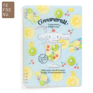 Japan Sanrio Cinnamorol B5 Ring Note 【Tefrenu】 (fruit)
