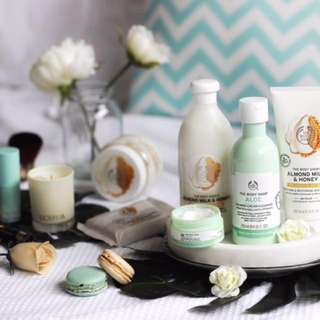 Bodyshop skincare products